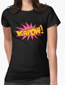 #PIXEL KAPOW! Womens Fitted T-Shirt