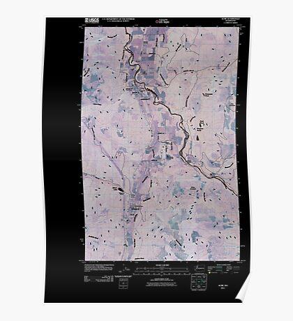 USGS Topo Map Washington State WA Acme 20110418 TM Inverted Poster