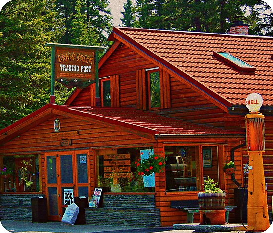 Bragg Creek Trading Post by Leslie van de Ligt