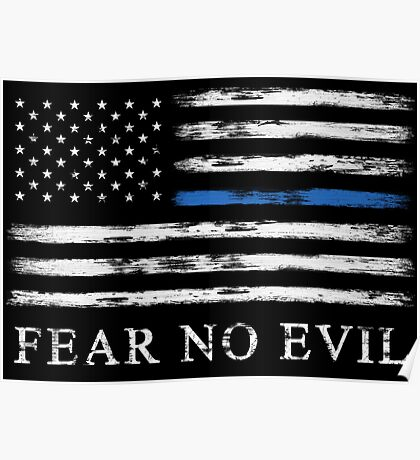 Blue Line - Fear No Evil Poster
