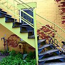 Montreal - The yellow stairs by Jean-Luc Rollier
