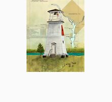 Fort Washington Lighthouse MD Map Cathy Peek Unisex T-Shirt