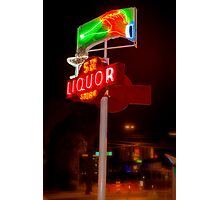 5th Avenue liquor neon sign Photographic Print