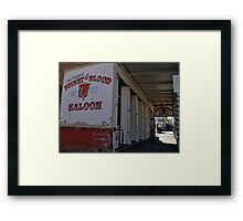 A Bucket of Blood Framed Print