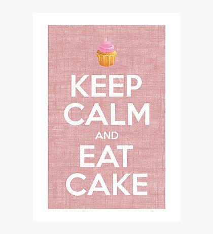 Keep Calm and Eat Cake Print Photographic Print