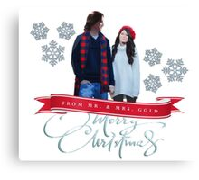 Merry Christmas from the Golds! Canvas Print