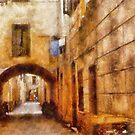 Street in Loano - Italy by Gilberte