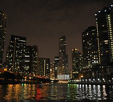 Chicago- colorful reflections in water. by asharamu