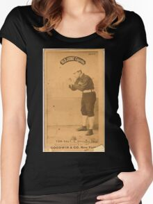 Benjamin K Edwards Collection Tom Daly Chicago White Stockings baseball card portrait Women's Fitted Scoop T-Shirt