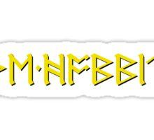The Hobbit Runes Sticker