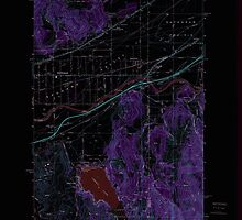 USGS Topo Map Washington State WA Liberty Lake 241996 1973 24000 Inverted by wetdryvac