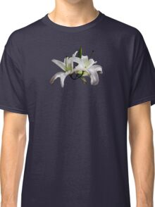 Two Delicate White Lilies Classic T-Shirt