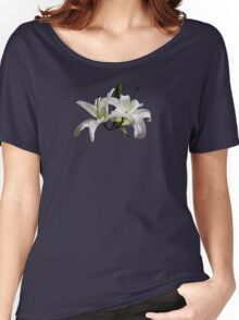 Two Delicate White Lilies Women's Relaxed Fit T-Shirt