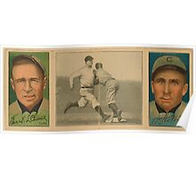 Benjamin K Edwards Collection Frank L Chance Wm A Foxen Chicago Cubs baseball card portrait Poster