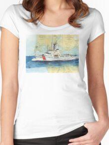 USCGC Alert Nautical Chart Map Cathy Peek  Women's Fitted Scoop T-Shirt