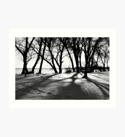 only the shadows know Art Print