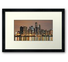 Chicago Skyline, as seen from Navy Pier Framed Print