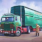 Scania livestock wagon. by Mike Jeffries