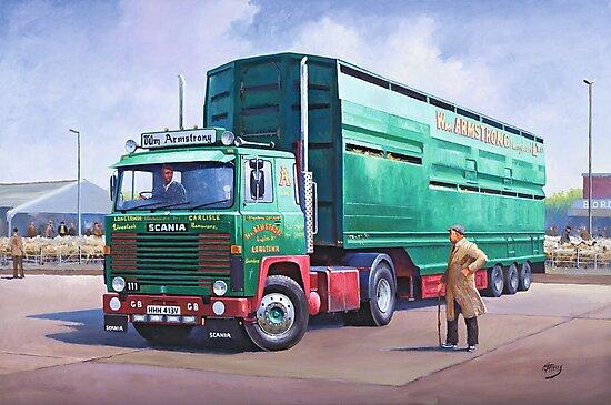 Scania livestock wagon. by Mike Jeffries