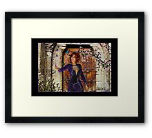 Rhona (Butterfly Girl) Framed Print