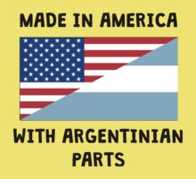 Made In American With Argentinian Parts Kids Tee