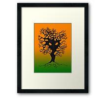Evil Tree or The Root of Evil Framed Print