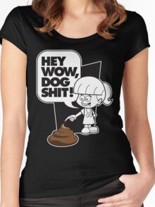 Wow Dog Sh*t Women's Fitted Scoop T-Shirt