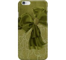 Crackled Finish with Bow & Rhinestones Look Iphone or Ipod Case iPhone Case/Skin