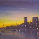 Sydney at dusk by Tash  Luedi Art