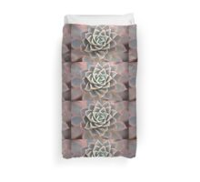 Echeveria Flower Duvet Cover