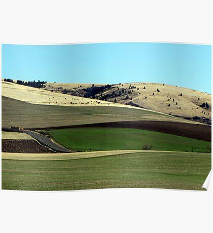 Farming Riches...Outside Pendelton, Oregon Poster