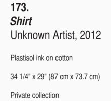 Shirt, as art (Light) by ubiquitoid