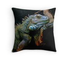 Sleepy Dinosaur Throw Pillow