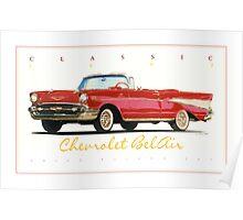 1957 Chevrolet BelAir ver 2 Poster