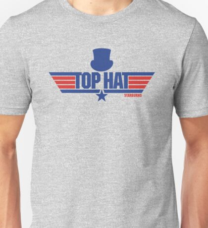 Top Hat (Star-Burns) Unisex T-Shirt