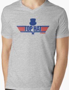 Top Hat (Star-Burns) Mens V-Neck T-Shirt