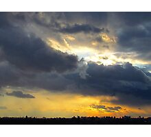 February sky in New York City Photographic Print