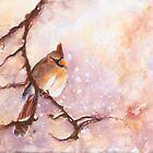 MAGICAL Female Winter Cardinal Copetn by CheyAnne Sexton