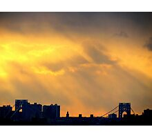 Sunset Bridge, New York City  Photographic Print