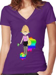 frEGGy mercury Women's Fitted V-Neck T-Shirt