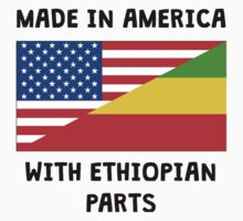 Made In American With Ethiopian Parts Kids Tee