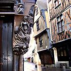 Carving on old French building by magicaltrails
