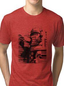 Rob-zilla Robot Attacks Tri-blend T-Shirt