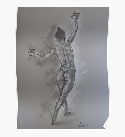Study of a dancer Poster
