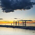 Port Willunga Jetty Sunset by Bill  Robinson