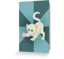 Nerdy Kitty Greeting Card