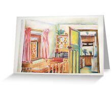 Multicoloured Rainbow Living Room Greeting Card