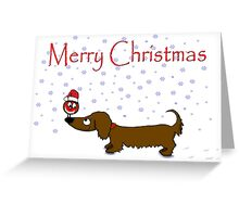 Dachshund 'Merry Christmas' Greeting Card