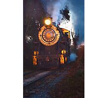 Steam Engine on the Track Photographic Print