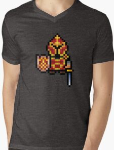 Pixel Warrior Mens V-Neck T-Shirt